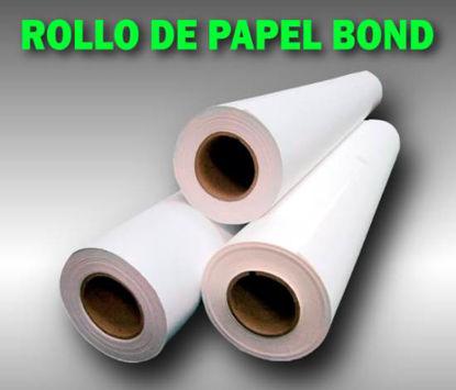Imagen de ROLLO PAPEL BOND TK  61.0 X 50 MT 80Grs.