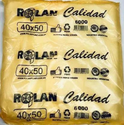 Imagen de BOLSA CAMISETA 40 X 50 FUNDA NARANJA CALIDAD 6000