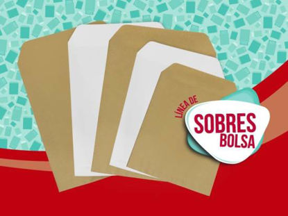 Imagen de SOBRE BOLSA MEDORO 2628 MANILA 25 X 35,3  Paq/100