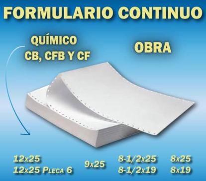 Imagen de FORM. CONT. 8-1/2 X 25 CB CAJA X 3030 H