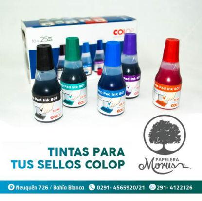 Imagen de TINTA  COLOP 801 x 25 ml NEGRO/COLORES
