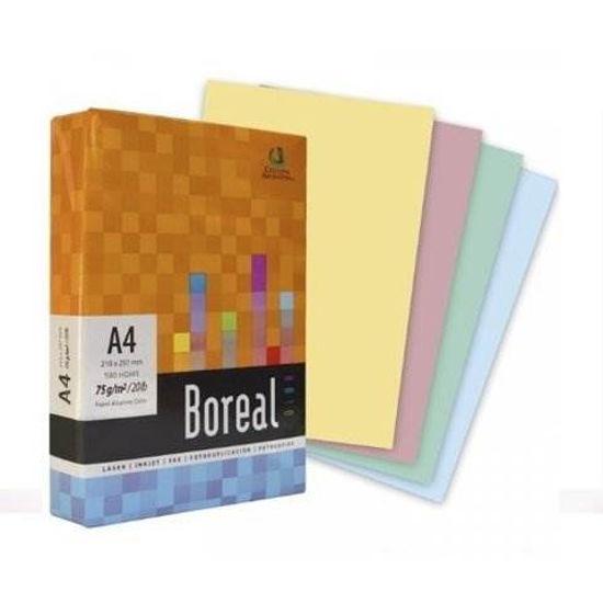 Imagen de BOREAL COLOR A4 21x29.7-75gs AMARILLO