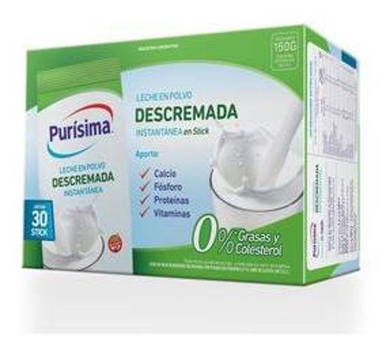 Imagen de LECHE DESCREMADA EN POLVO PURISIMA 30x5gr