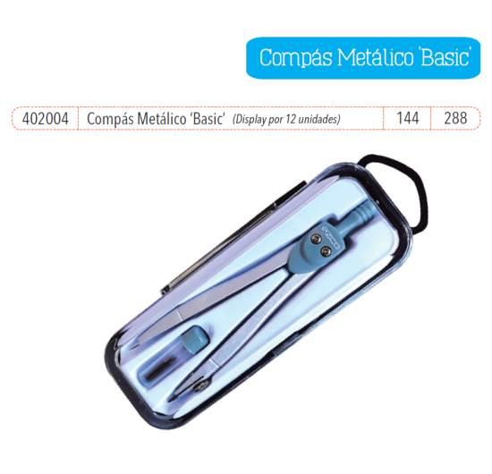 Imagen de COMPAS METÁLICO BASIC (EN ESTUCHE PLÁSTICO - DISPLAY BOX X 12 UNIDADES)