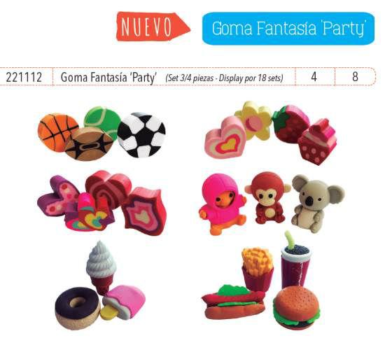 Imagen de GOMAS FANTASÍA PARTY (SET 4 PIEZAS - DISPLAY BOX X 18 SETS)