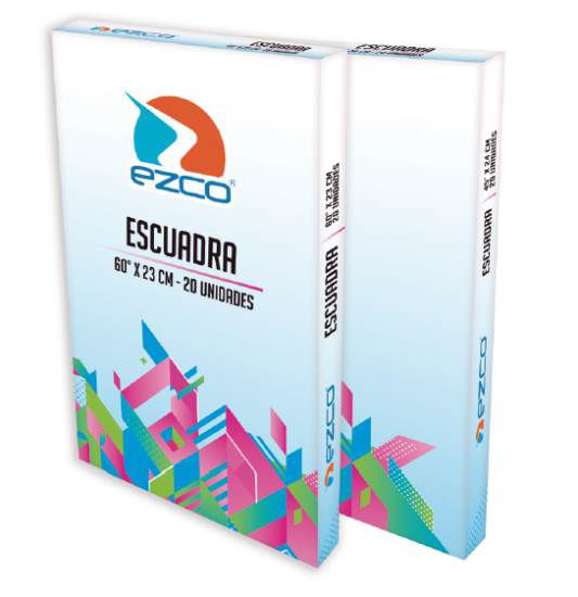 Imagen de ESCUADRA 60° X 23 CM (ACRÍLICO - CAJA DE 20 UNIDADES)